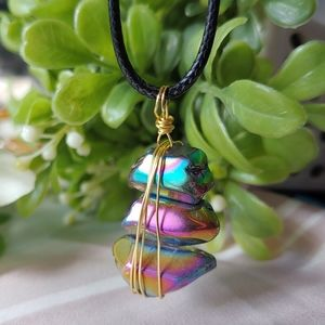Jewelry - Titanium quartz crystal necklace